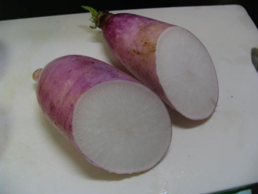 紫ダイコン1